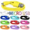 VARIOUS COLOUR USB 2.0 A MALE TO B MICRO DATA CHARGER CABLE 1M