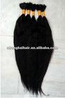 high quality raw remy Brazilian human hair bulk Unprocessed natural black ,natural brown raw human hair