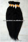 high quality raw remy Brazilian human hair bulk Unprocessed natural black ,natural brown raw human hair