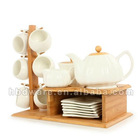 Hot selling Coffee Cup set with bamboo holder