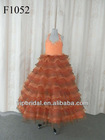Charming beaded and layer skirt halter flower girl dresses for weddings