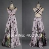 NEW!! Halter and Backless Sheath Painted Chiffon with Beading Hollow Out Prom Dresses 2012