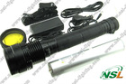 Popular 85W HID Flashlight Torch Rechargeable Tactical HID Torch light with 6600mah battery searching light