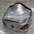 Silvery white motorcycle trunk Motorcycle accessories