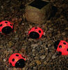 Set 4 ladybird solar resin light