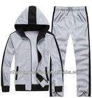 china manufacturer plain cotton/polyester french terry track suit for unisex