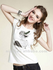 2012 fashion round neck plain t shirt