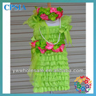 Lace Dress Green Vintage Girl Lace Flower Dress With Headband Set Baby Girls Tutu Dress Sets