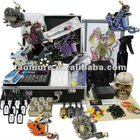 Tattoo Kit Dual LCD Power 8 Machines Guns 8 Grips Needles Machine 9 Ink Supply