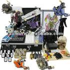 Tattoo Kit Dual LCD Power 8 Machines Guns 8 Grips Needles Machine 9 Ink Supply
