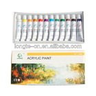 12 Colors Acrylic Paints Set