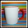 Sublimation rim handle mug/Sublimation inside color mug/sublimation mug