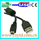 high speed usb otg calbe am to mini5p black color