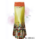 Glaceful Long Yellow Skirt SL10914-5