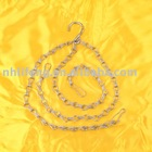 Hot selling Rhinestone decorative chain,decorative alloy metal chain,Double Hook Chain A19