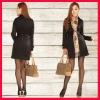Chinese women winter dress coats black clothing