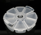 Round Clear Beads Display Storage Case Box 11cm Dia.