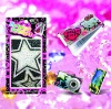 Glitter rhinestone letter Sticker