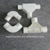 Plastic pvc pipe fittings cross Tee for connecting