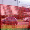 orange security fence