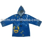 WB10-RC006,Mirror pvc with knitted fabric base Rain coat
