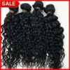 Top quality natural color deep wave Brazilian hair weft