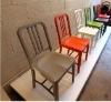 colourful navy Aluminum chair/dining Chair/modern restaurant chair/coffee chair