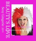 Red and White Sports Fanatic Wig