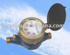 Multi-jet vane wheel dry-dial water meter