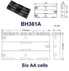 6AA battery case