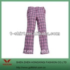 Hot sell Women's Casual Checkered Pants
