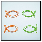 fish colorful cute paper clips