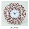 JSC002 pink crystal table clock