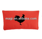 Vintage Linen Red Rooster Pillow for Home Decor
