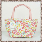 Thickness Foldable Flower Canvas Shopping Tote Bag