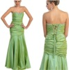 New In Trend Mermaid Long Oliver Green Taffeta Korean Prom Dresses