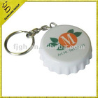 beer cap shaped bottle opener with key ring