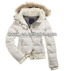 2012Hot selling fur hoodies women down jacket,fashion down feather coats,with super quality