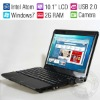 "10"" Student Mini Laptop Cheap Netbook PC/Intel 1.6GHz Dual Core/6-cell Battery/Win7/2GB RAM/250G HDD/Wifi/Camera/New Year's Gift"