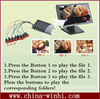 metal shell external push button digital advertising media box