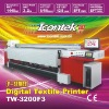 ICONTEK 3200F3 3.2M Digital Textile Printer with Seiko SPT-1020/35pl Printhead