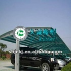 8mm blue polycarbonate hollow sheet for carport