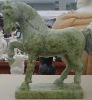Green marble standing horse gifts