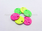 14mm bright colorful metal two-hole tag for garments