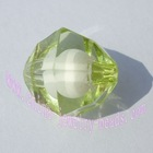 jewelry component, bicone bead, inside bead, bead in bead, semitransparent bead