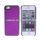 Hard Brushed Metal Wiredrawing Protector Back Cover Case for Apple iPhone 5 colorful-carmine New