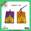 Travel soft pvc luggage tag with emboidery logo
