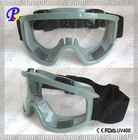 Plastic protective eye safety goggles with a elastic strap