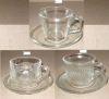 glass cup with saucer,tableware,glassware