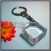 3d laser crystal keychain for souvenir